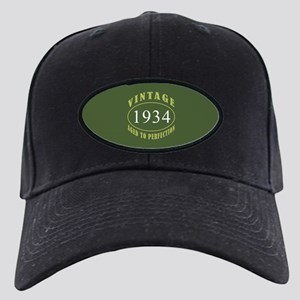 Vintage 1934 Birth Year Black Cap