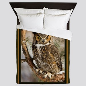 Horned Owl Queen Duvet