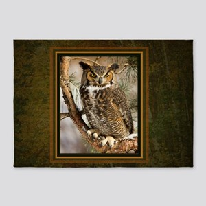 Horned Owl 5'x7'Area Rug