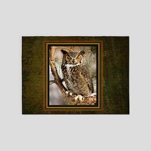 Horned Owl 5'x7'Area Rug