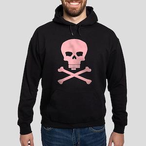 Go Brief Steno Skull Pink front/back Hoodie (dark)