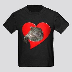 Wombat Love Kids Dark T-Shirt
