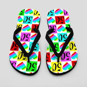 50TH LOVE Flip Flops