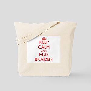 Keep Calm and HUG Braiden Tote Bag