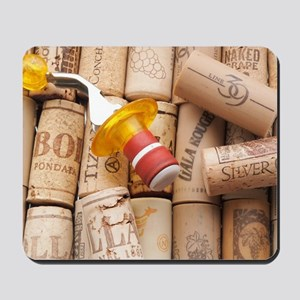 Wine Bottle Topper With Used Corks Mousepad