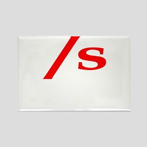 submissive symbol Rectangle Magnet