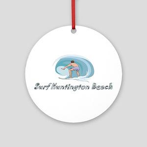 Surf Huntington Beach, Califo Ornament (Round)
