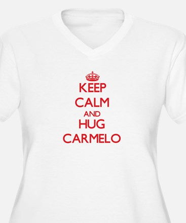 Keep Calm and HUG Carmelo Plus Size T-Shirt
