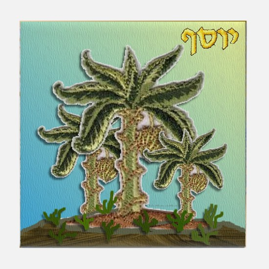 12 Tribes Israel Joseph Tile Coaster