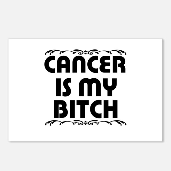 Cancer is My Bitch Postcards (Package of 8)