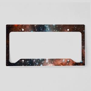 Space galaxy nebula bright st License Plate Holder
