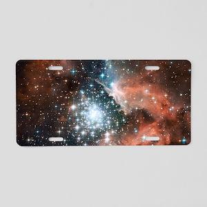Space galaxy nebula bright  Aluminum License Plate