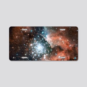 Space galaxy nebula bright  Aluminum License Plate