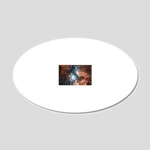 Space galaxy nebula bright s 20x12 Oval Wall Decal