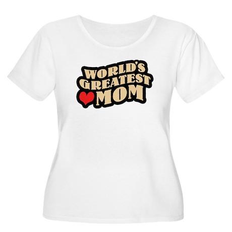 Worlds Greatest Mom Women's Plus Size Scoop Neck T