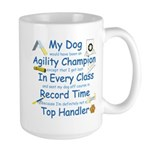 Agility Champion Large Mug