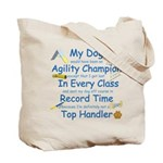 Agility Champion Tote Bag