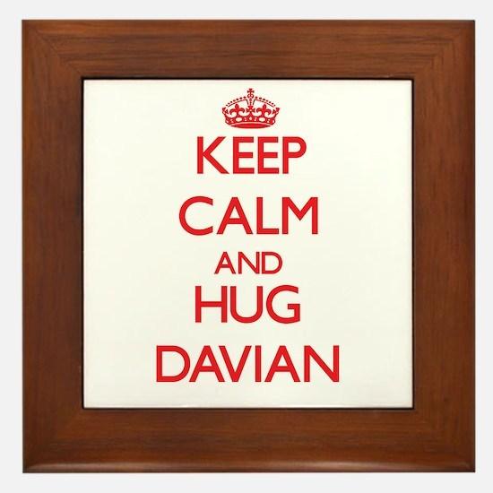 Keep Calm and HUG Davian Framed Tile