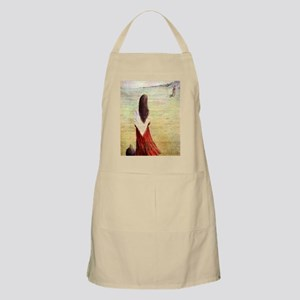 Woman in shawl waiting Apron