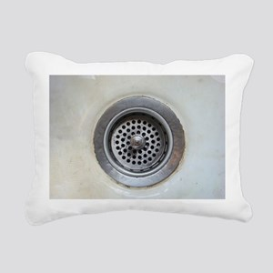 Kitchen sink drain Rectangular Canvas Pillow