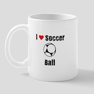I love Soccer Ball Mug