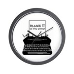 Blame the Typewriter Wall Clock