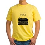 Blame the Typewriter Yellow T-Shirt