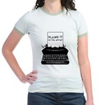 Blame the Typewriter Jr. Ringer T-Shirt