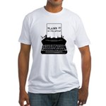 Blame the Typewriter Fitted T-Shirt