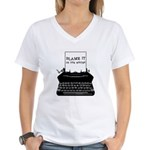 Blame the Typewriter Women's V-Neck T-Shirt
