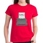 Blame the Typewriter Women's Dark T-Shirt
