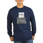 Blame the Typewriter Long Sleeve Dark T-Shirt
