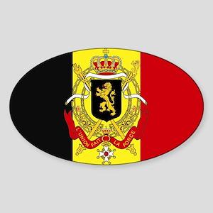 Belgium w/ coat of arms Rectangle Sticker