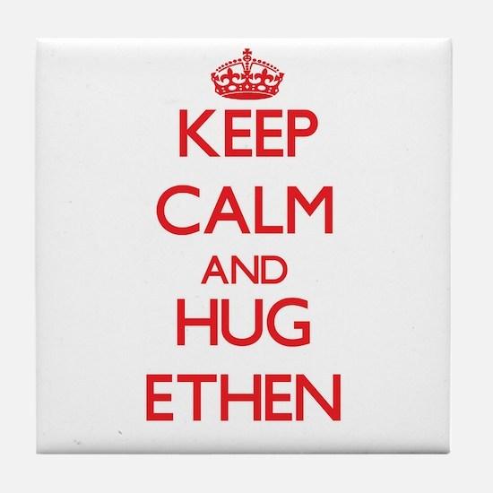 Keep Calm and HUG Ethen Tile Coaster