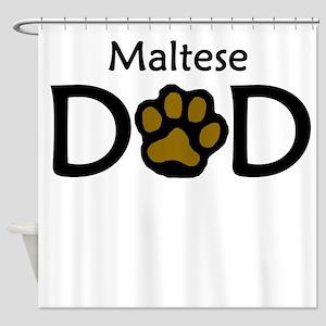 Maltese Dad Shower Curtain