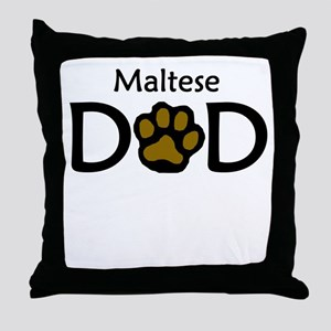 Maltese Dad Throw Pillow