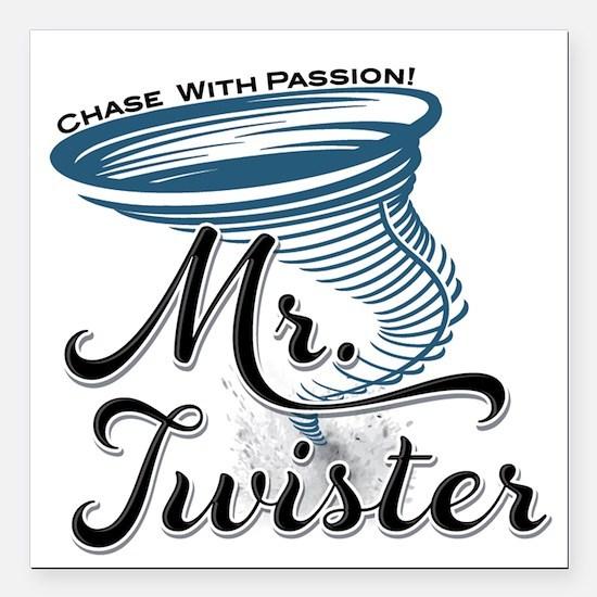 "Mr Twister Square Car Magnet 3"" x 3"""