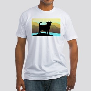 seaside affen Fitted T-Shirt
