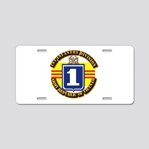 ARVN - 1st Infantry Division Aluminum License Plat