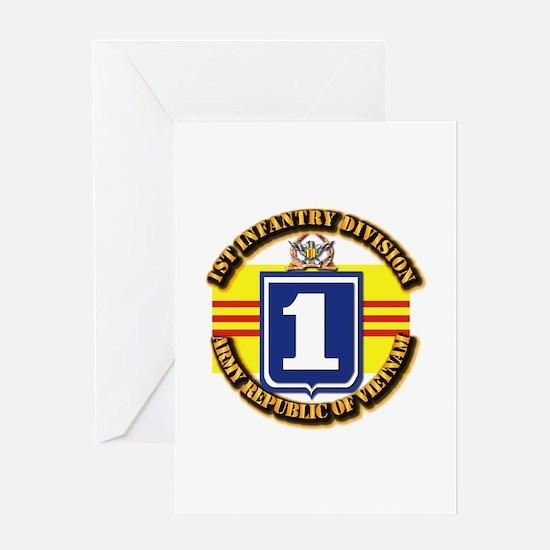 ARVN - 1st Infantry Division Greeting Card