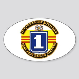 ARVN - 1st Infantry Division Sticker (Oval)