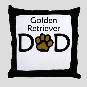 Golden Retriever Dad Throw Pillow