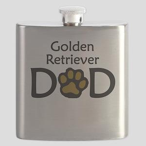 Golden Retriever Dad Flask