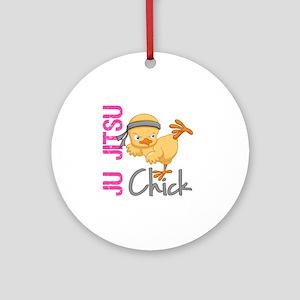 Ju Jitsu Chick 2 Ornament (Round)