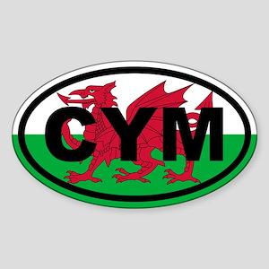 Wales CYM flag Sticker