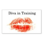 Diva in Training Rectangle Sticker