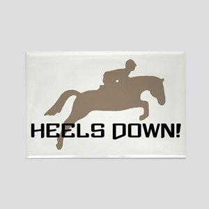 heels down hunter Rectangle Magnet