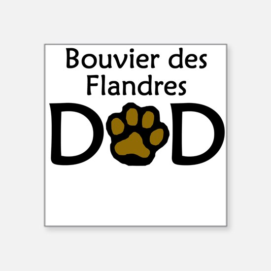 Bouvier des Flandres Dad Sticker