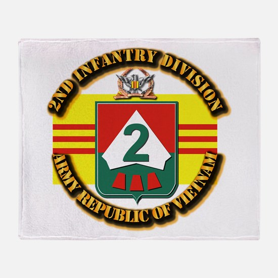 ARVN - 2nd Infantry Division Throw Blanket
