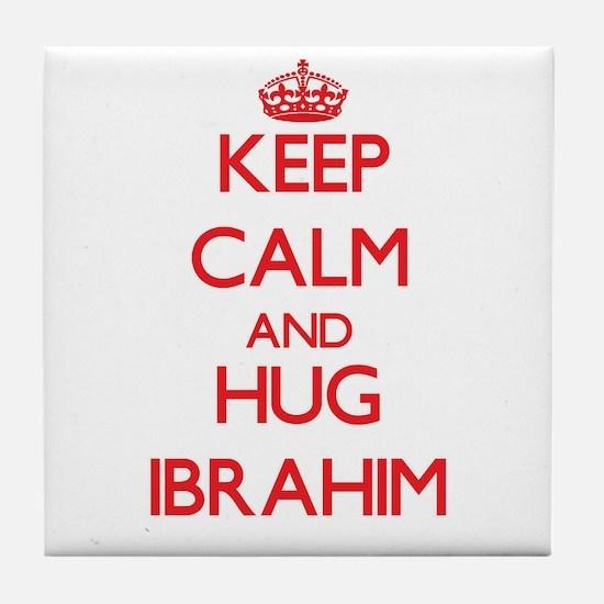 Keep Calm and HUG Ibrahim Tile Coaster